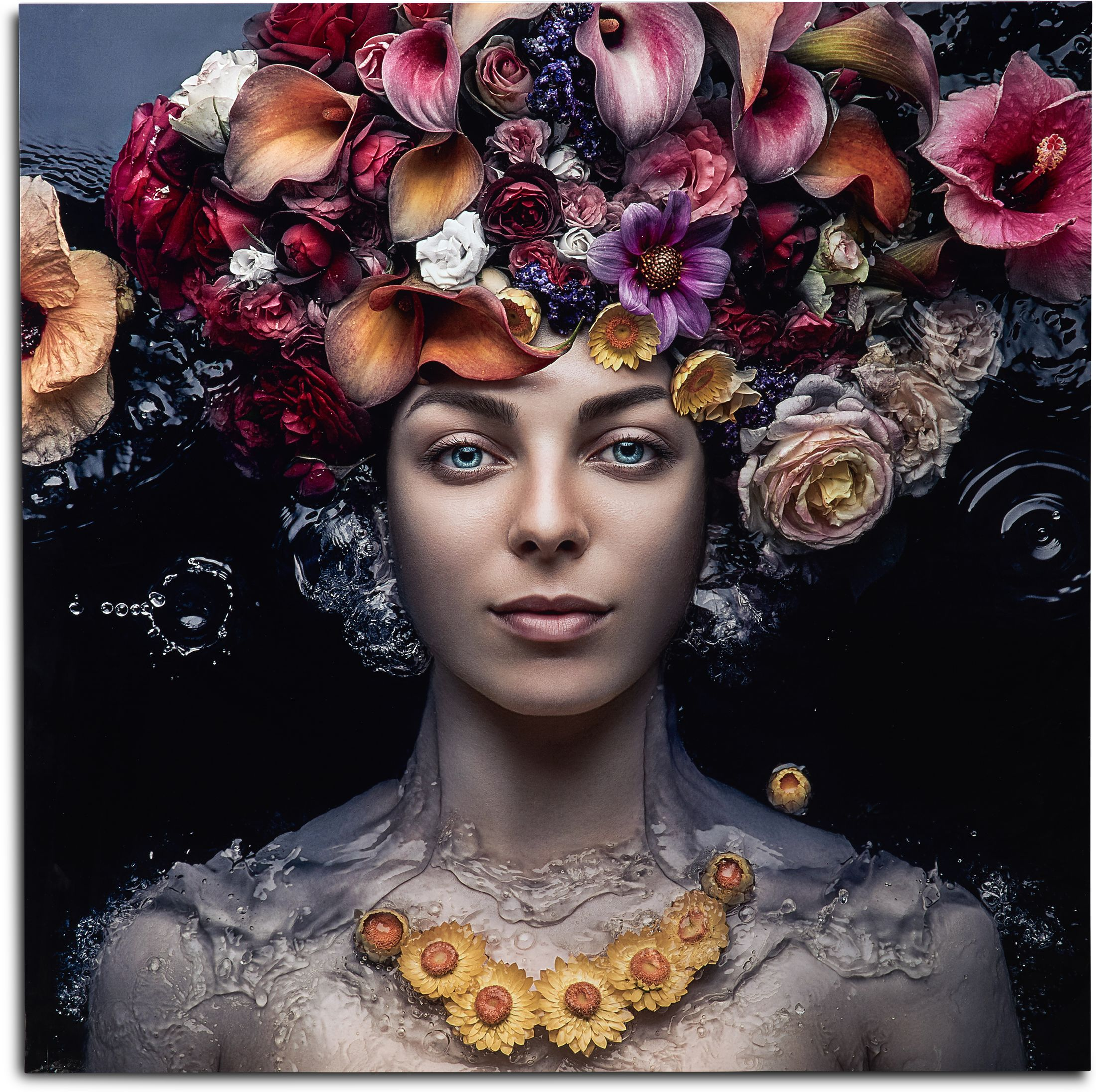 Home Accessories - Flowers in Hair Wall Art