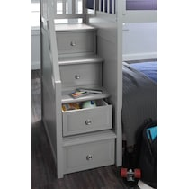flynn youth gray twin over twin stair bunk bed