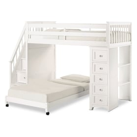 Flynn Loft Bed with Storage Stairs and Chest