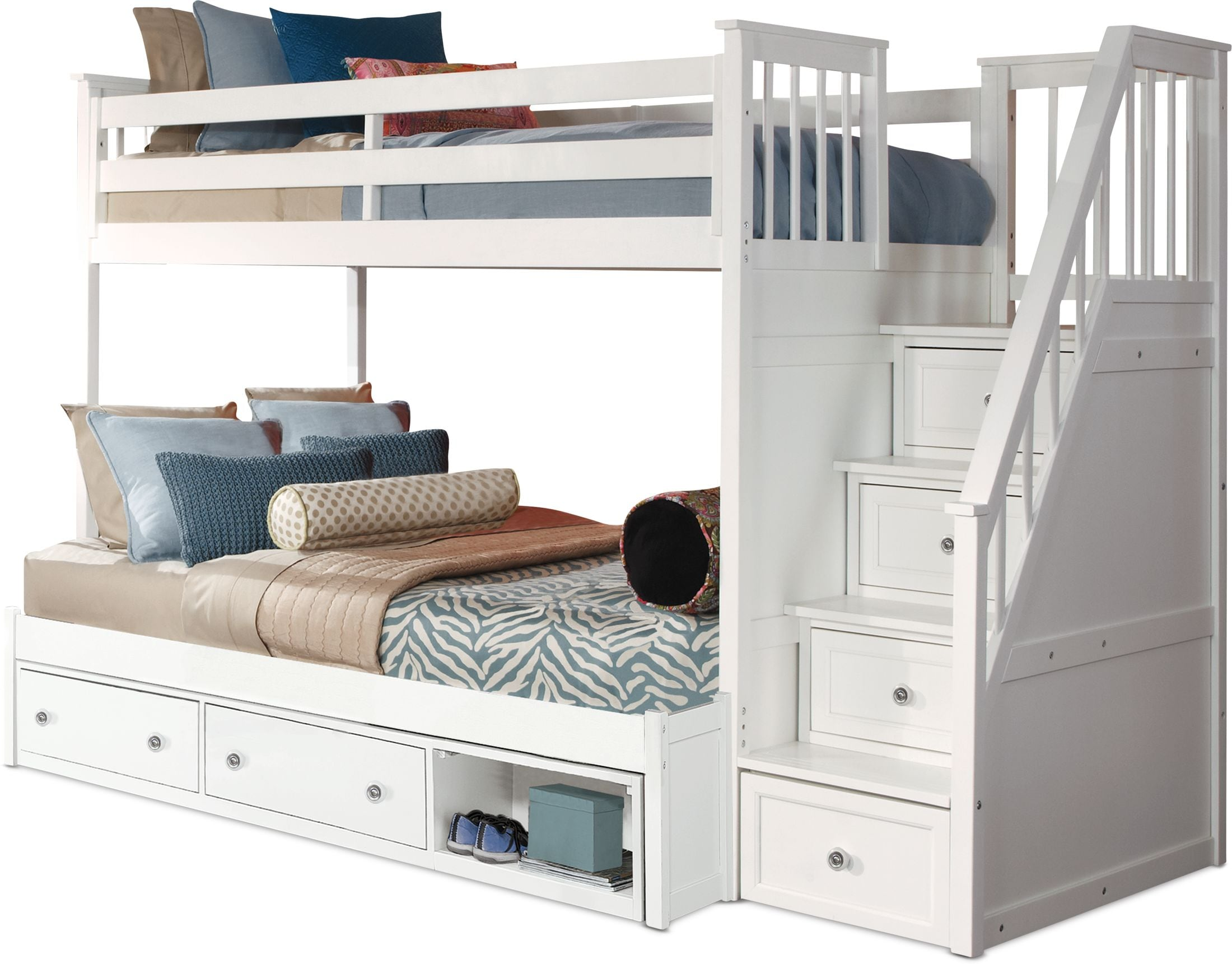 Flynn Storage Bunk Bed With Storage Stairs American Signature Furniture