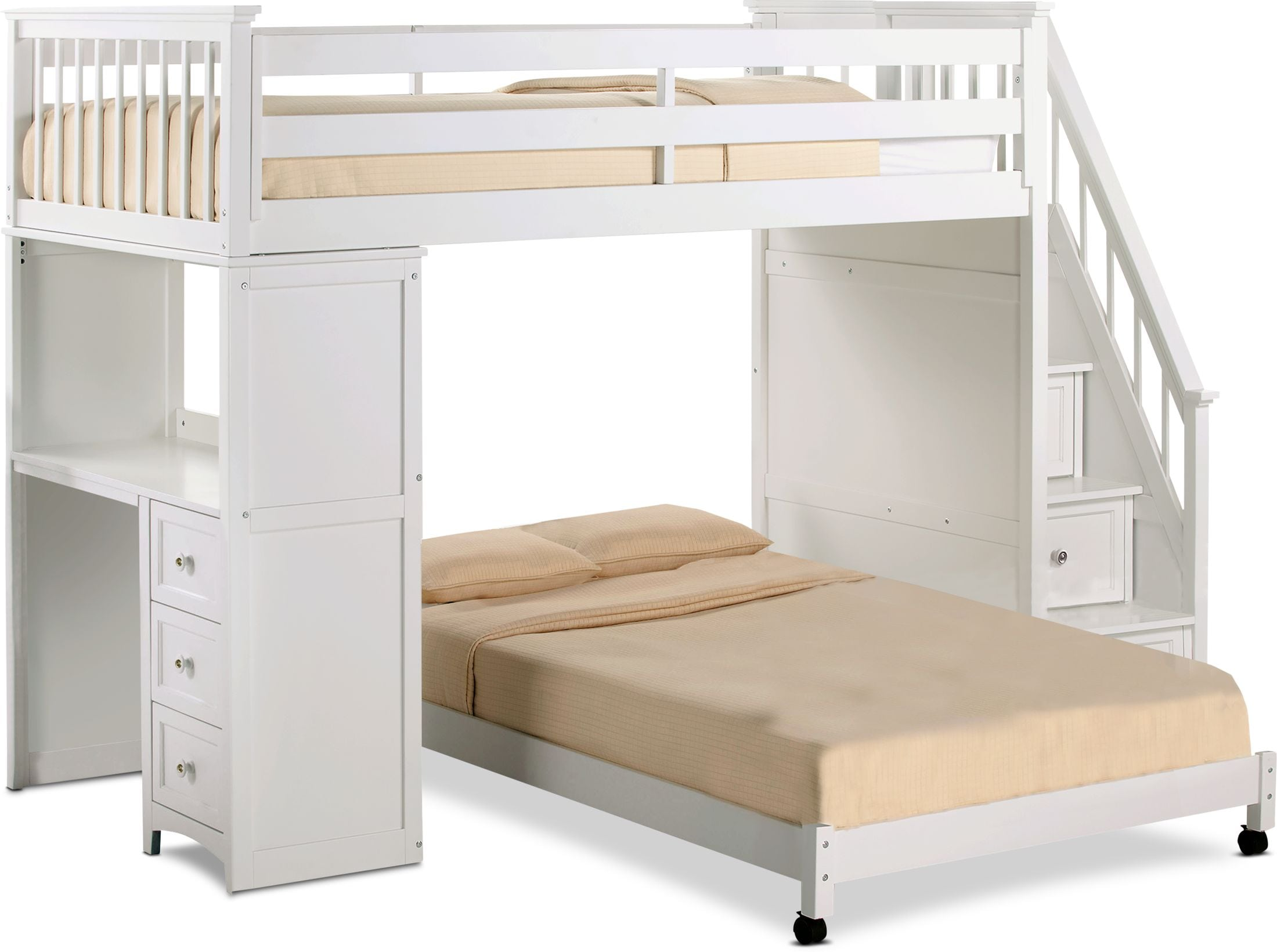 Twin Over Full Bunk Bed With Stairs And Desk Cheaper Than Retail Price Buy Clothing Accessories And Lifestyle Products For Women Men
