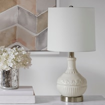 fortuna white table lamp