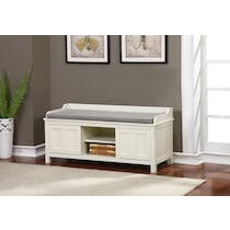 fullerton white storage bench