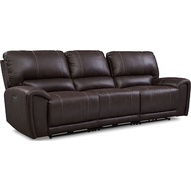 Gallant 3-Piece Dual-Power Reclining Sofa - Chocolate