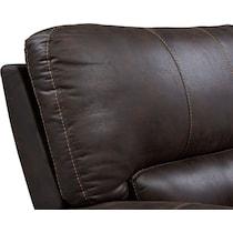 gallant dark brown  pc power reclining sofa