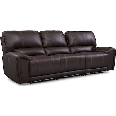 Gallant 3-Piece Manual Reclining Sofa - Chocolate