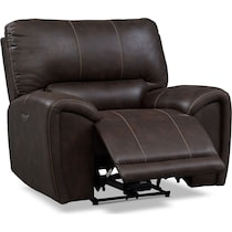 gallant dark brown power recliner