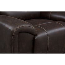 gallant dark brown power reclining sofa