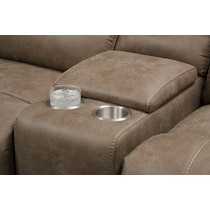 gallant light brown  pc reclining sectional