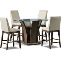 gemini gray  pc counter height dining room
