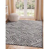 geo hide gray area rug ' x '