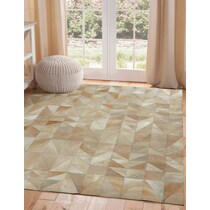 geo hide light brown area rug ' x '