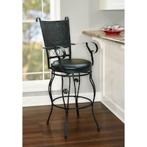 gerald black bar stool