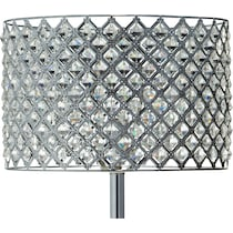 glass crystal silver table lamp