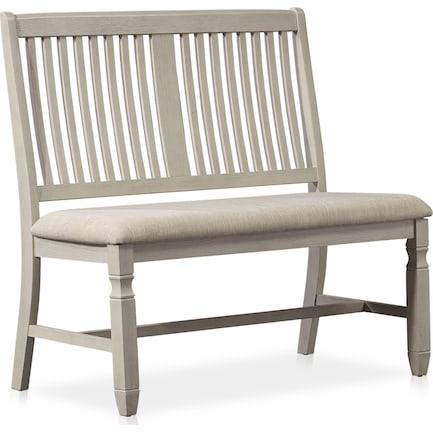 Glendale Dining Bench - White