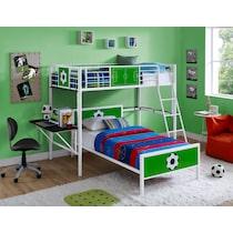 goalkeeper white loft bed