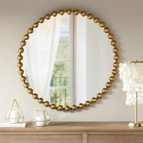 gold button gold mirror