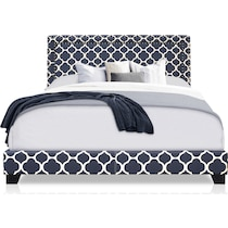 grace blue queen upholstered bed