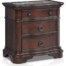 gramercy park dark brown nightstand