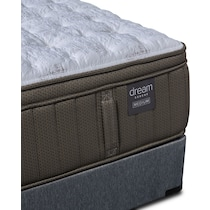 gray california king mattress split foundation set