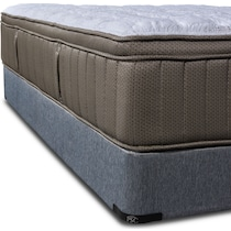 gray california king mattress split low profile foundation set