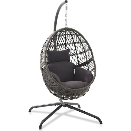Hanging Indoor/Outdoor Egg Chair - Gray/Driftwood