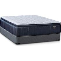 gray queen mattress split low profile foundation set