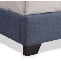 hadley blue queen upholstered bed