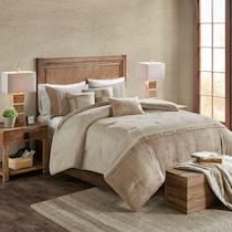 haisley light brown full queen bedding set