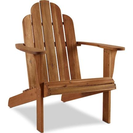 Hampton Beach Outdoor Adirondack Chair - Teak
