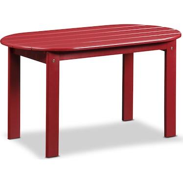 Hampton Beach Outdoor Coffee Table - Red