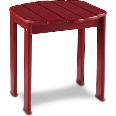 Hampton Beach Outdoor End Table - Red