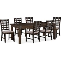 hampton dining dark brown  pc dining room