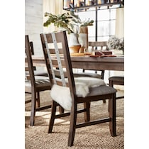 hampton dining dark brown side chair