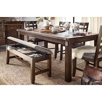 hampton dining dark brown storage bench
