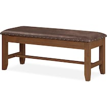 hampton dining light brown storage bench