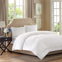 hampton white full queen bedding set
