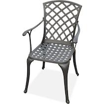 hana outdoor dining black outdoor chair
