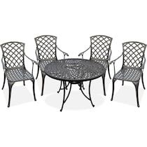 hana outdoor dining black outdoor dinette