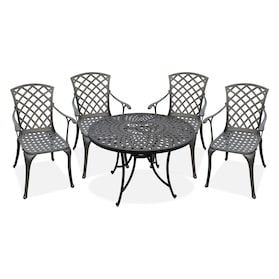 "Hana Outdoor 42"" Dining Table and 4 High-Back Arm Chairs"