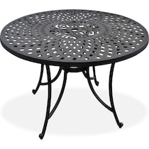 hana outdoor dining black outdoor dining table