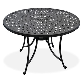 """Hana Outdoor 42"""" Dining Table and 4 High-Back Arm Chairs"""