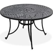 hana outdoor dining black outdoor dining table