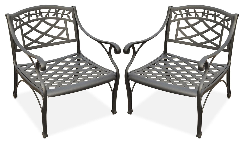 Outdoor Furniture - Hana Set of 2 Outdoor Chairs