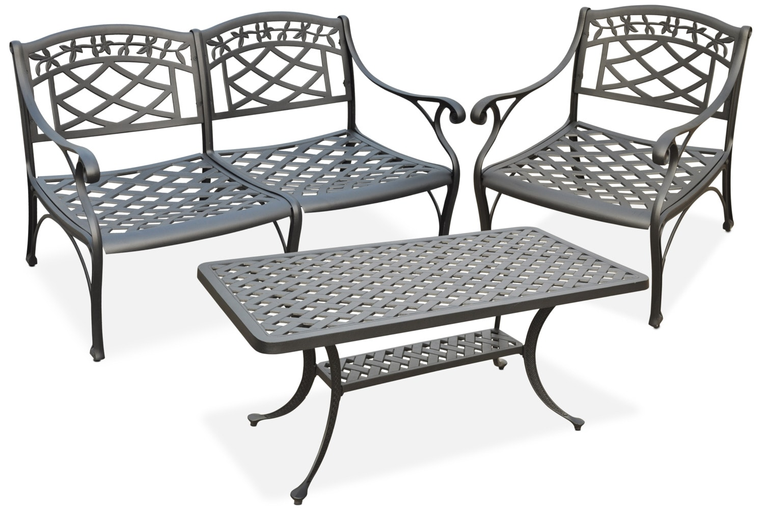 Outdoor Furniture - Hana Outdoor Loveseat, Chair and Coffee Table Set