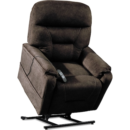 Hank Power Lift Heated Massage Recliner - Bark
