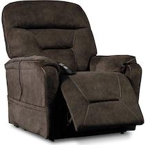 hank dark brown power lift recliner