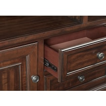 hanover occasional dark brown tv stand