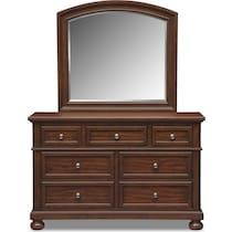 hanover youth cherry bookcase cherry dresser & mirror