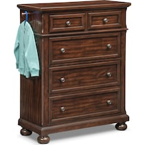 hanover youth cherry bookcase dark brown chest
